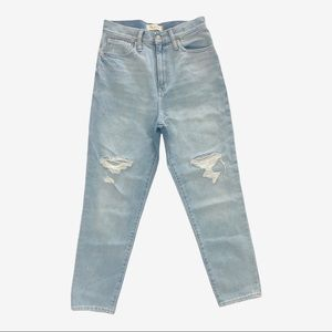 Madewell the mom jean Womens size 26 Nwt torn